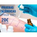Pruebas alérgicas (Prick test)