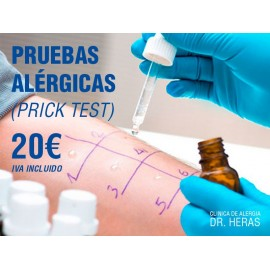 Pruebas alérgicas (Prick test)