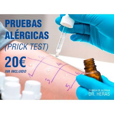 Prueba alérgica - Clínica de Alergia Dr. Heras