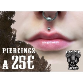 Piercings a 25€